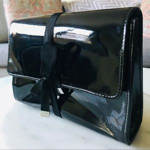 Dior Beauty Black Patent Leather Make-Up Bag